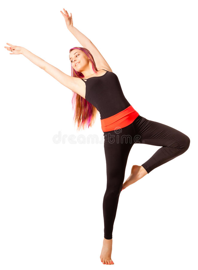 Νέα χορεύοντας γυναίκα στοκ εικόνες