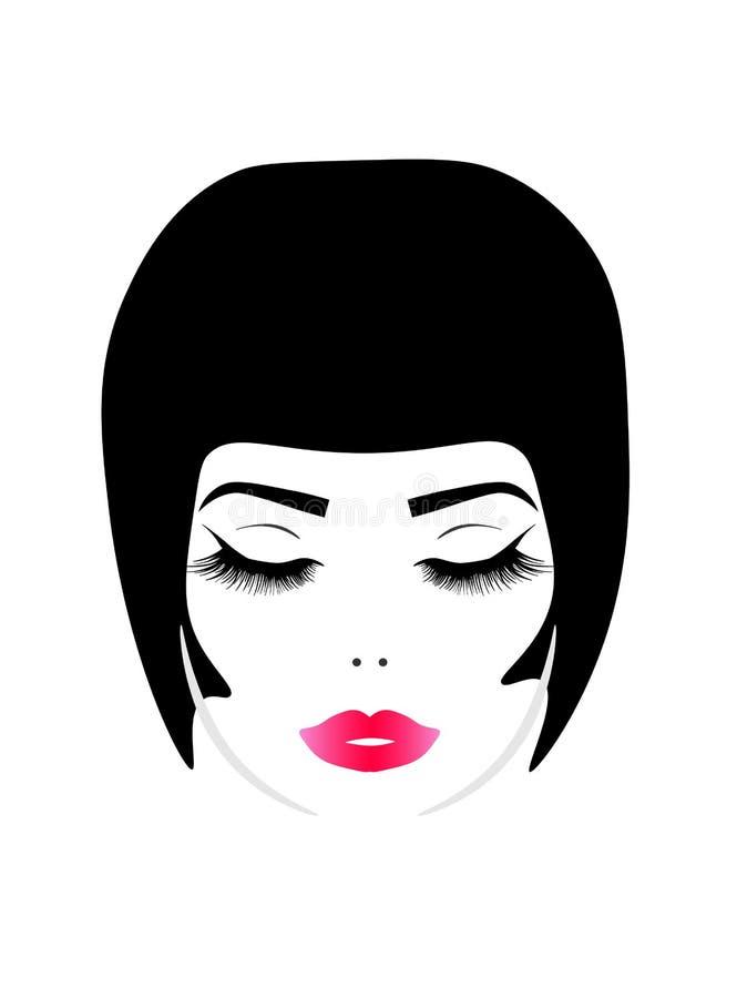 Νέα όμορφη γυναίκα Ιστού απεικόνιση αποθεμάτων