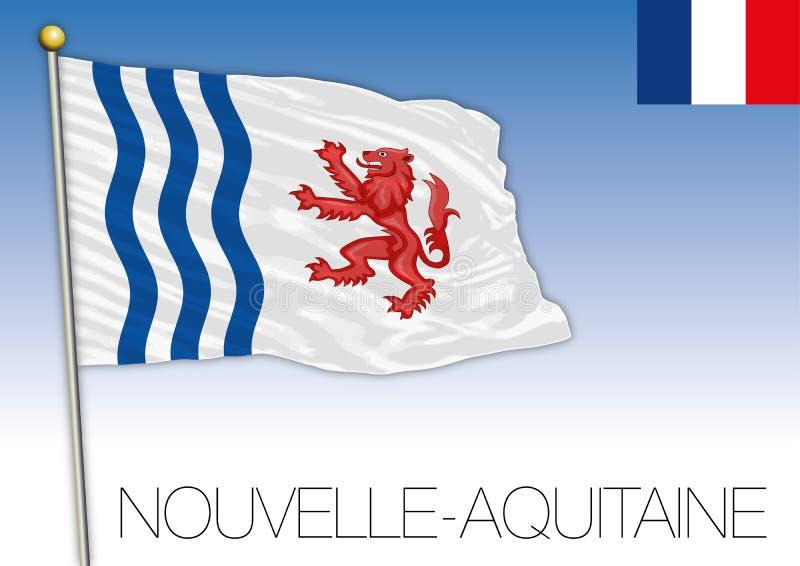Νέα Aquitaine περιφερειακή σημαία, Γαλλία, διανυσματική απεικόνιση ελεύθερη απεικόνιση δικαιώματος