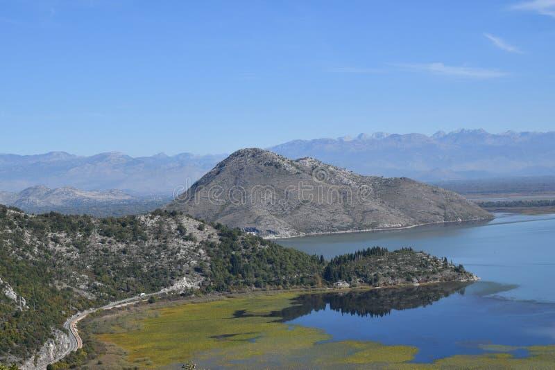 Νέγρος Skadar Monte λιμνών του Μαυροβουνίου στοκ εικόνες