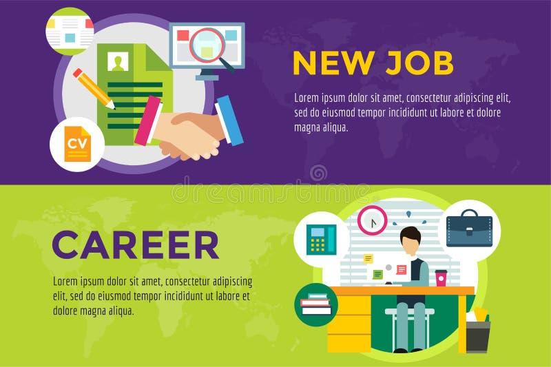 Νέες αναζήτηση εργασίας και εργασία σταδιοδρομίας infographic απεικόνιση αποθεμάτων