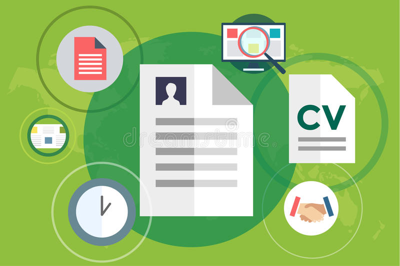 Νέες αναζήτηση εργασίας και εργασία infographic απεικόνιση αποθεμάτων