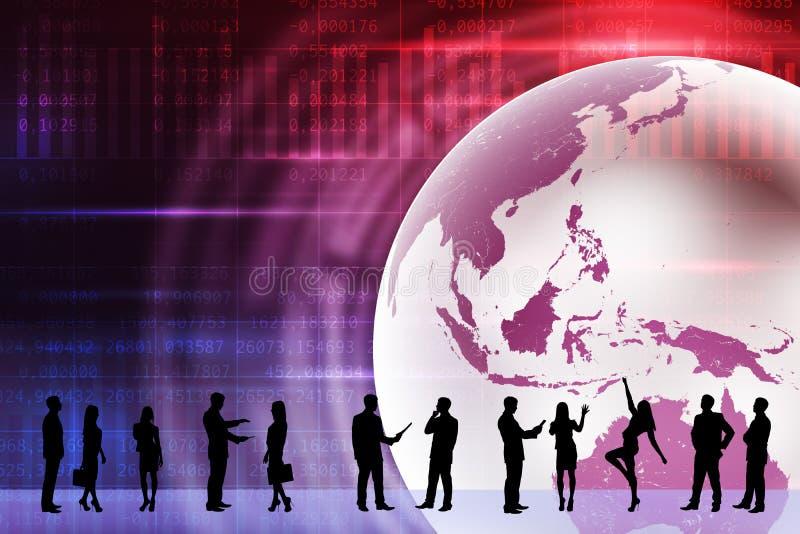 Νέες σκιαγραφίες επιχειρηματιών διανυσματική απεικόνιση