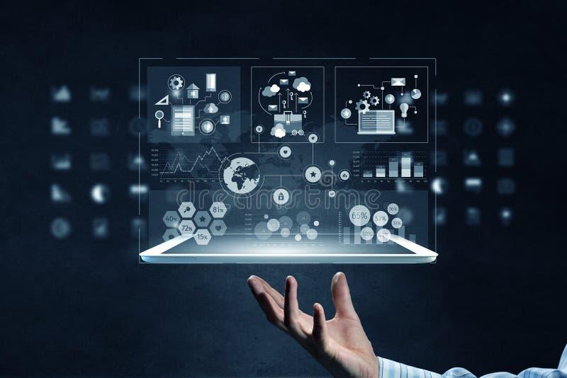 Νέες τεχνολογίες μέσων για την επιχείρηση στοκ εικόνα