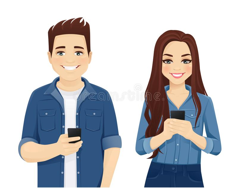 Νέοι με τις συσκευές απεικόνιση αποθεμάτων