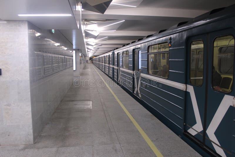 Νέοι σταθμοί της κόκκινης γραμμής του μετρό της Μόσχας Σταθμός Olkhovaja στοκ φωτογραφία με δικαίωμα ελεύθερης χρήσης