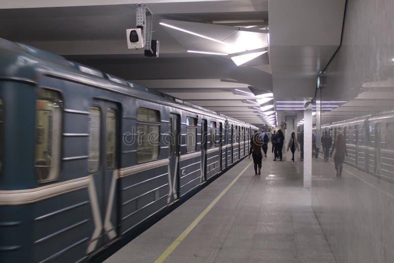 Νέοι σταθμοί της κόκκινης γραμμής του μετρό της Μόσχας Σταθμός Olkhovaja στοκ φωτογραφίες με δικαίωμα ελεύθερης χρήσης
