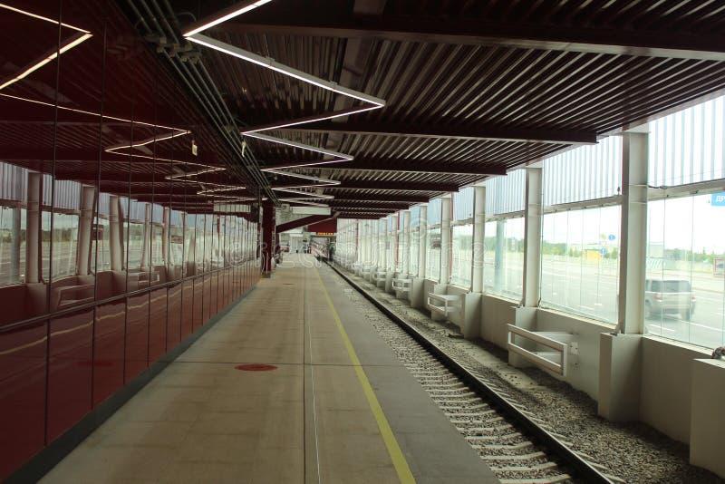 Νέοι σταθμοί της κόκκινης γραμμής του μετρό της Μόσχας Σταθμός Prokshino στοκ εικόνες με δικαίωμα ελεύθερης χρήσης