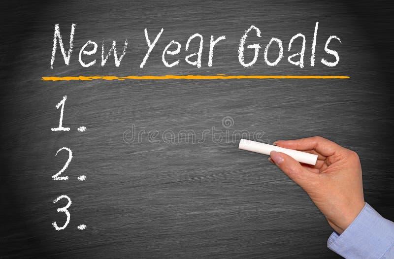 Νέοι στόχοι έτους στοκ εικόνες με δικαίωμα ελεύθερης χρήσης