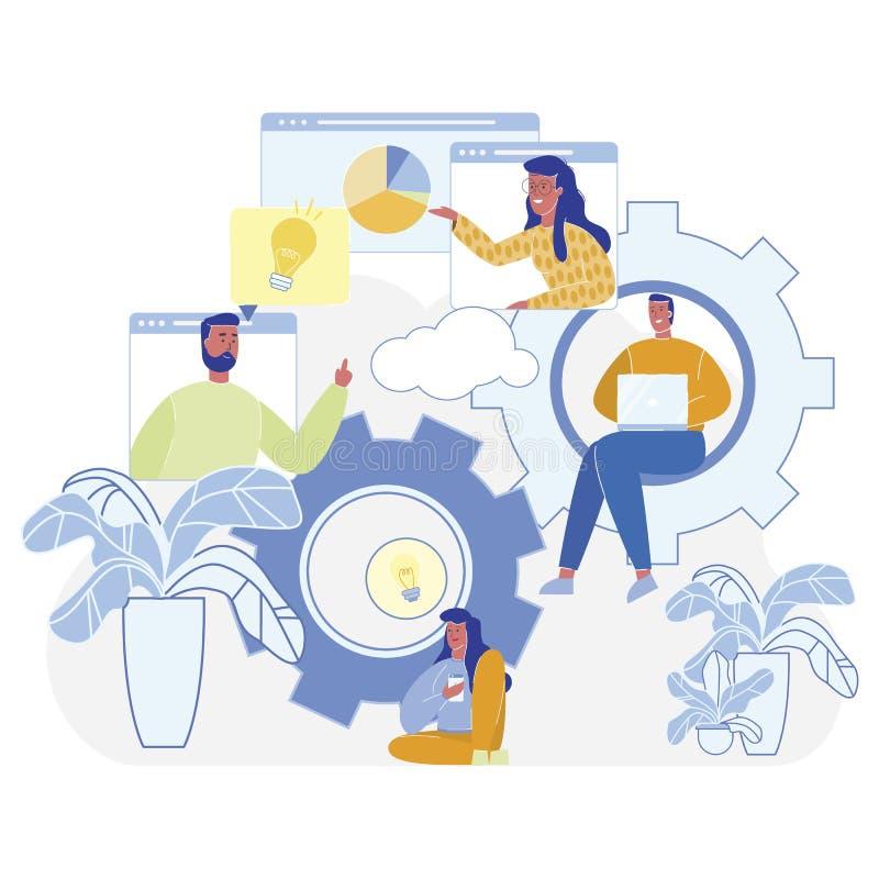 Νέοι υπεύθυνοι για την ανάπτυξη προγράμματος εργασίας ομάδας απεικόνισης απεικόνιση αποθεμάτων