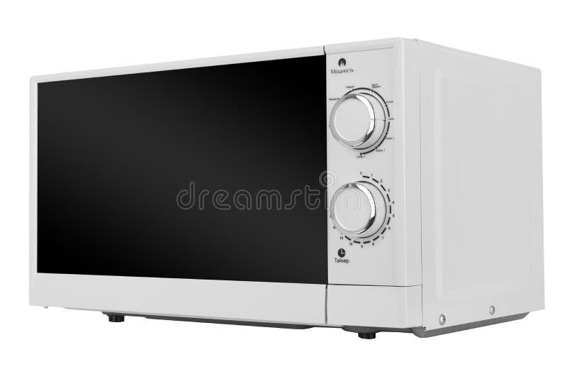 Νέος άσπρος φούρνος μικροκυμάτων που απομονώνεται στο άσπρο υπόβαθρο στοκ φωτογραφίες με δικαίωμα ελεύθερης χρήσης