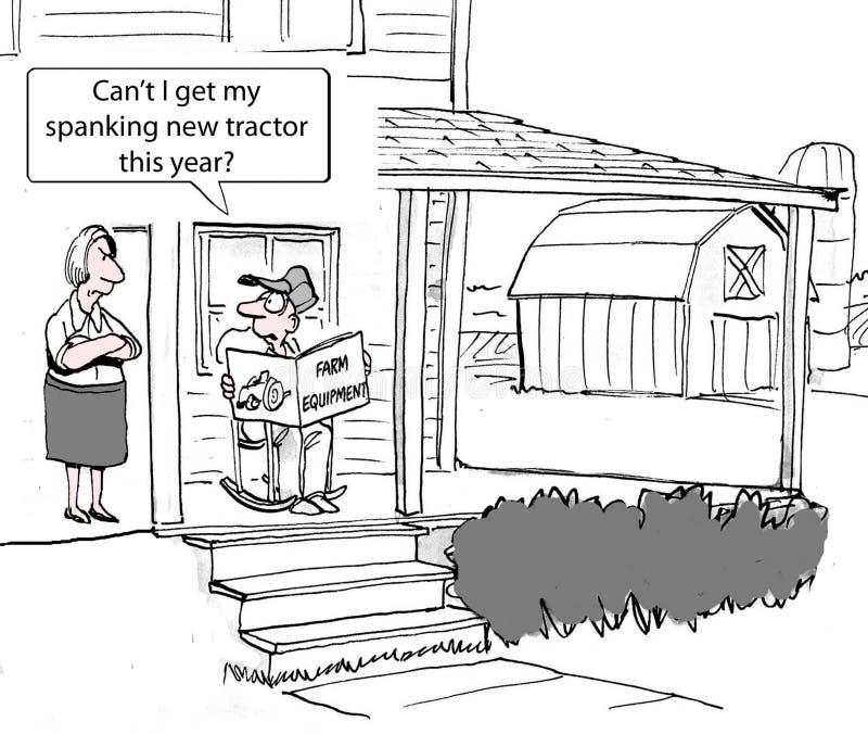 Νέος αγροτικός εξοπλισμός διανυσματική απεικόνιση