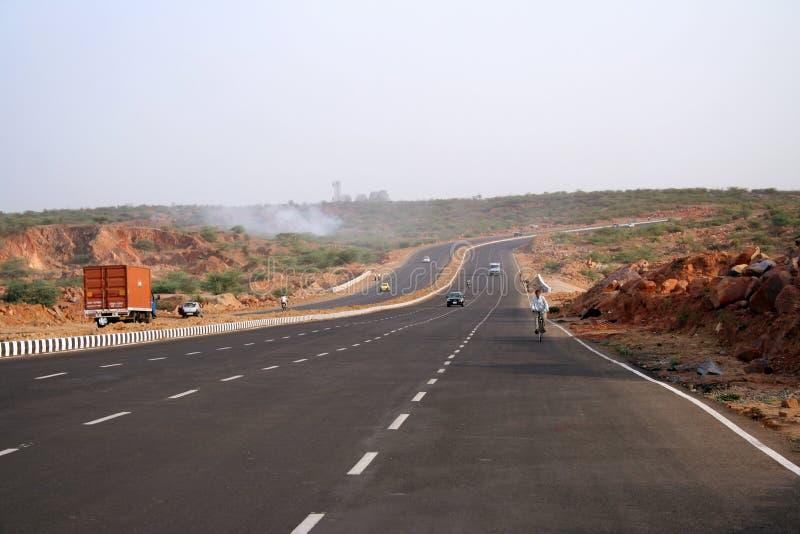 νέος δρόμος της Ινδίας εθνικών οδών προσώπου καλός στοκ εικόνες