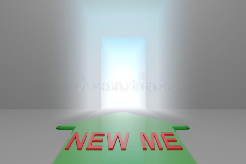 Νέος εγώ στην ανοικτή πύλη ελεύθερη απεικόνιση δικαιώματος