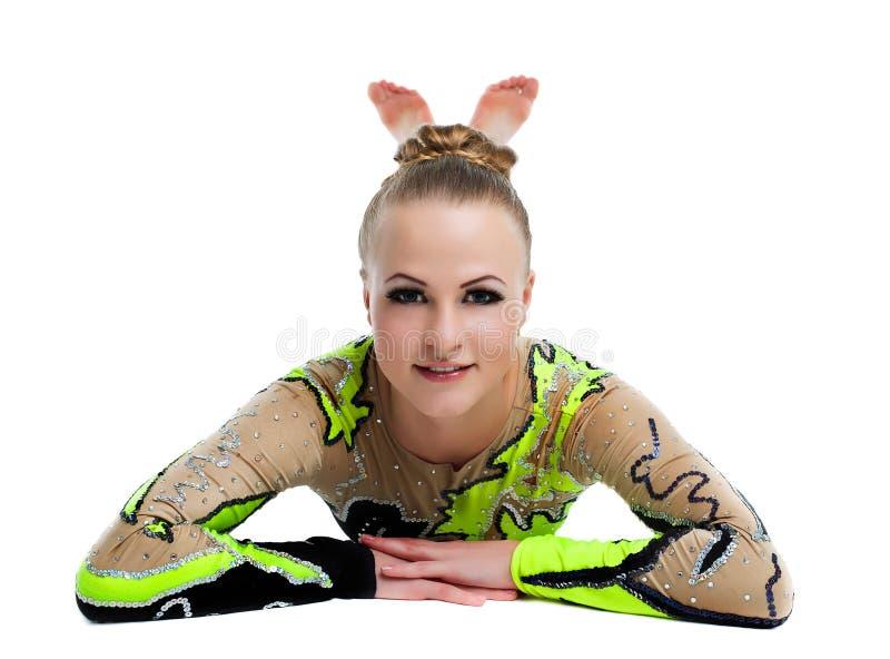 Νέος επαγγελματικός gymnast χαλαρώνει το πορτρέτο   στοκ εικόνα με δικαίωμα ελεύθερης χρήσης