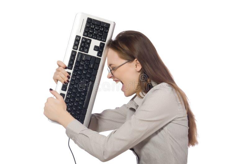 Download Νέος επιχειρηματίας στην αστεία έννοια στο λευκό Στοκ Εικόνα - εικόνα από ενοχλημένος, gamer: 62709627