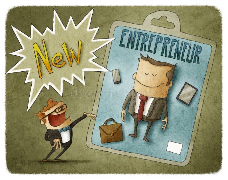 Νέος επιχειρηματίας διανυσματική απεικόνιση