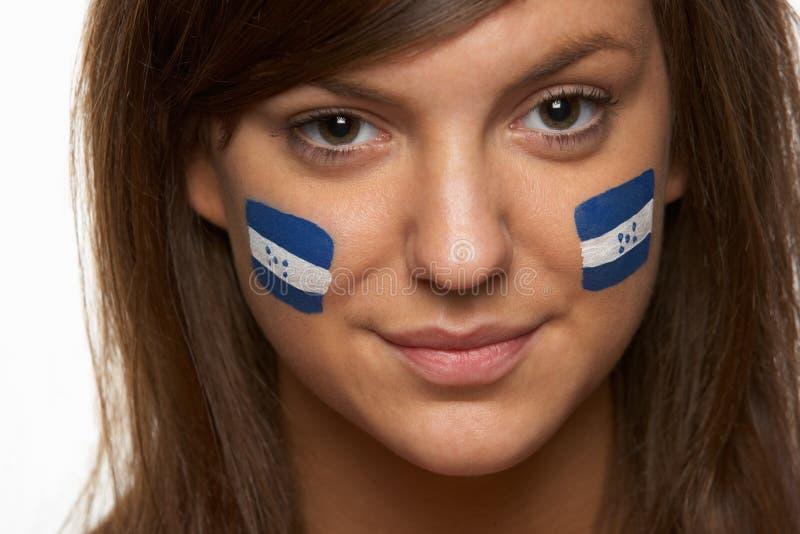Νέος θηλυκός αθλητικός ανεμιστήρας στοκ φωτογραφία με δικαίωμα ελεύθερης χρήσης