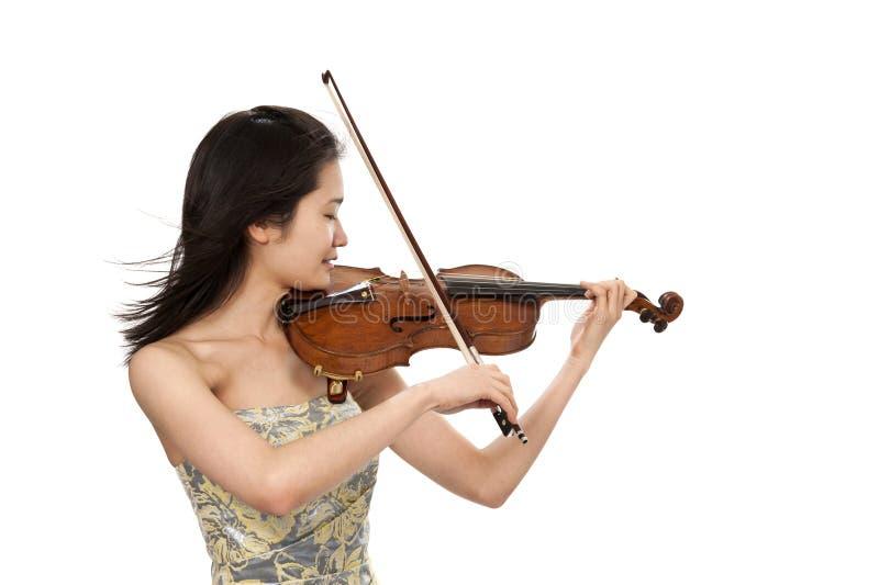 Νέος θηλυκός φορέας βιολιών στοκ εικόνα
