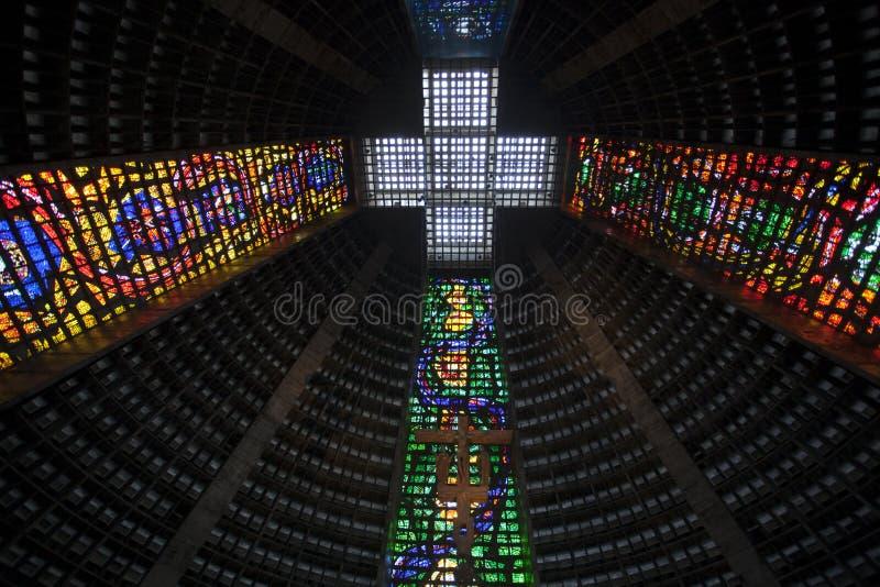 Νέος καθολικός καθεδρικός ναός Ρίο ντε Τζανέιρο στοκ εικόνες