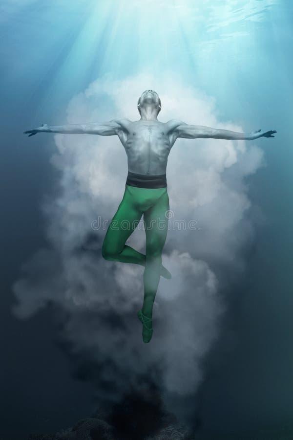 Νέος και μοντέρνος σύγχρονος χορευτής μπαλέτου στο υπόβαθρο φαντασίας στοκ φωτογραφίες