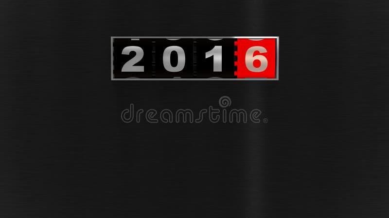 2016 νέος μετρητής έτους απεικόνιση αποθεμάτων