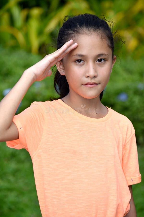 Νέος νεανικός χαιρετισμός Filipina στοκ φωτογραφία με δικαίωμα ελεύθερης χρήσης
