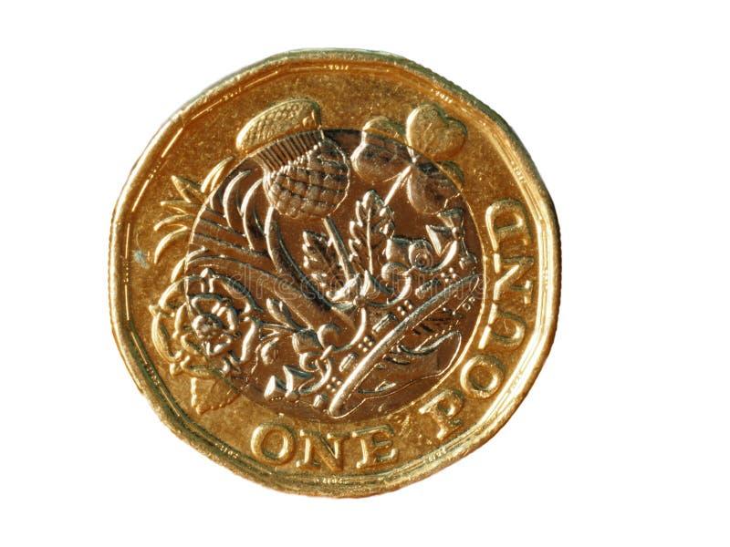 Νέος νόμισμα λιβρών στο σαφές κλίμα στοκ εικόνα
