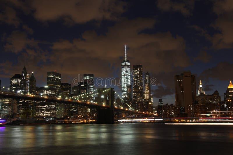 νέος ορίζοντας Υόρκη νύχτα&s στοκ φωτογραφία με δικαίωμα ελεύθερης χρήσης