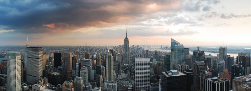νέος ορίζοντας Υόρκη πανο στοκ εικόνα με δικαίωμα ελεύθερης χρήσης