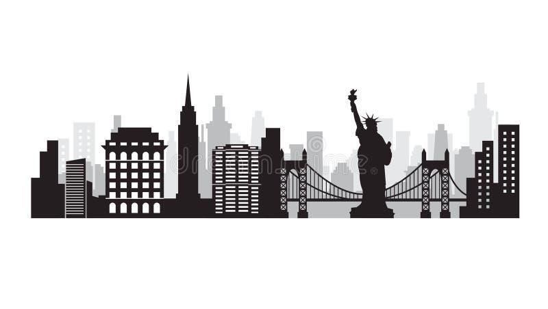 νέος ορίζοντας Υόρκη πόλεων ελεύθερη απεικόνιση δικαιώματος
