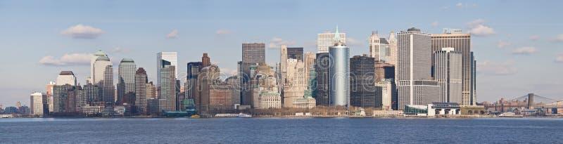 νέος ορίζοντας Υόρκη του Μανχάτταν πόλεων χαμηλότερος στοκ εικόνες