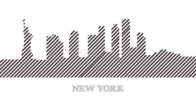 νέος ορίζοντας Υόρκη διανυσματική απεικόνιση
