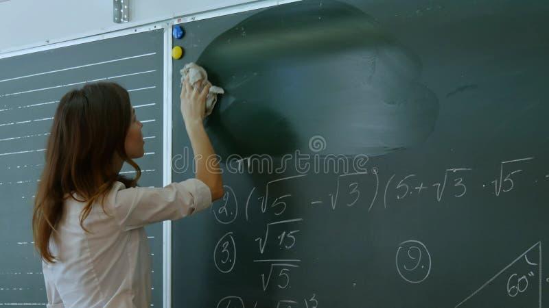 Νέος πίνακας κιμωλίας σβησίματος δασκάλων στοκ εικόνα