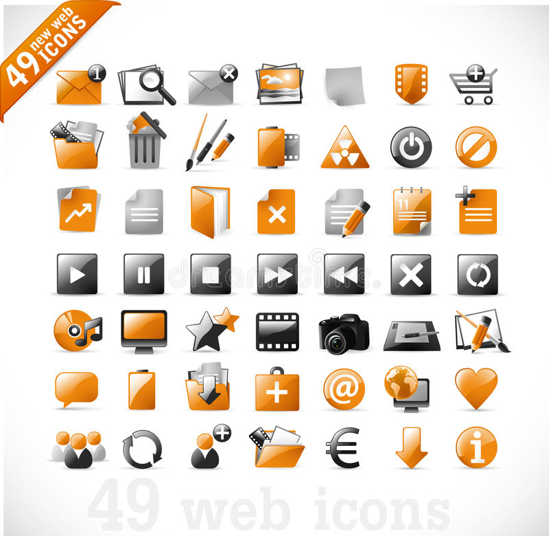 νέος πορτοκαλής Ιστός mutimedia 2 &ep απεικόνιση αποθεμάτων