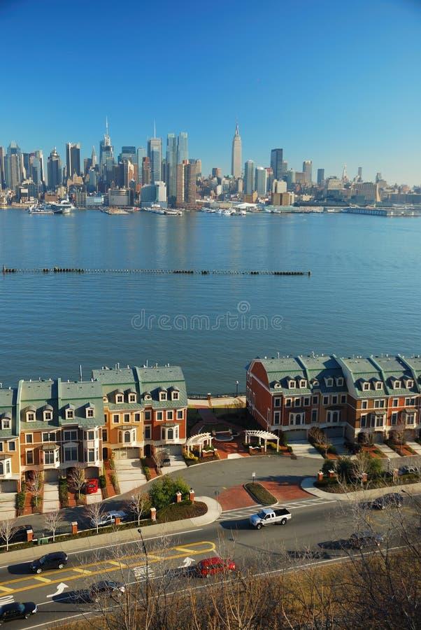 νέος ποταμός Υόρκη πόλεων hudson στοκ εικόνες με δικαίωμα ελεύθερης χρήσης