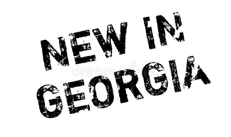 Νέος στη σφραγίδα της Γεωργίας διανυσματική απεικόνιση