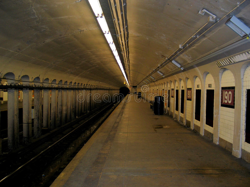 νέος υπόγειος Υόρκη στα&theta στοκ φωτογραφία