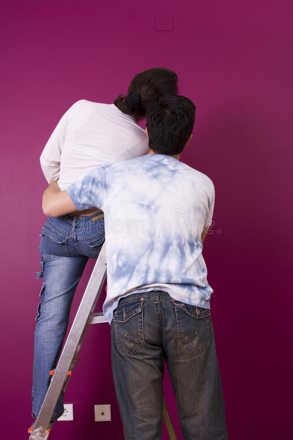 νέος χρωματισμένος τοίχος στοκ φωτογραφία με δικαίωμα ελεύθερης χρήσης
