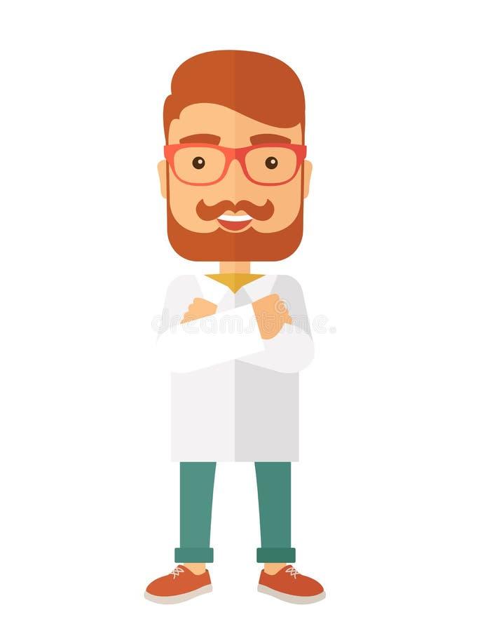 Νέος όμορφος βοηθός γιατρών ιατρικής αρσενικών απεικόνιση αποθεμάτων