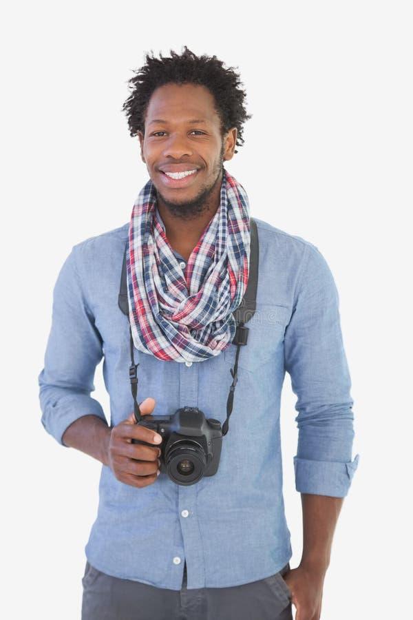 Νέος όμορφος φωτογράφος στοκ φωτογραφία