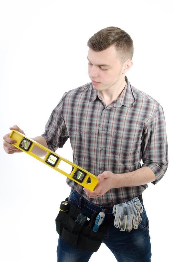 Νέος όμορφος handyman στοκ φωτογραφίες με δικαίωμα ελεύθερης χρήσης