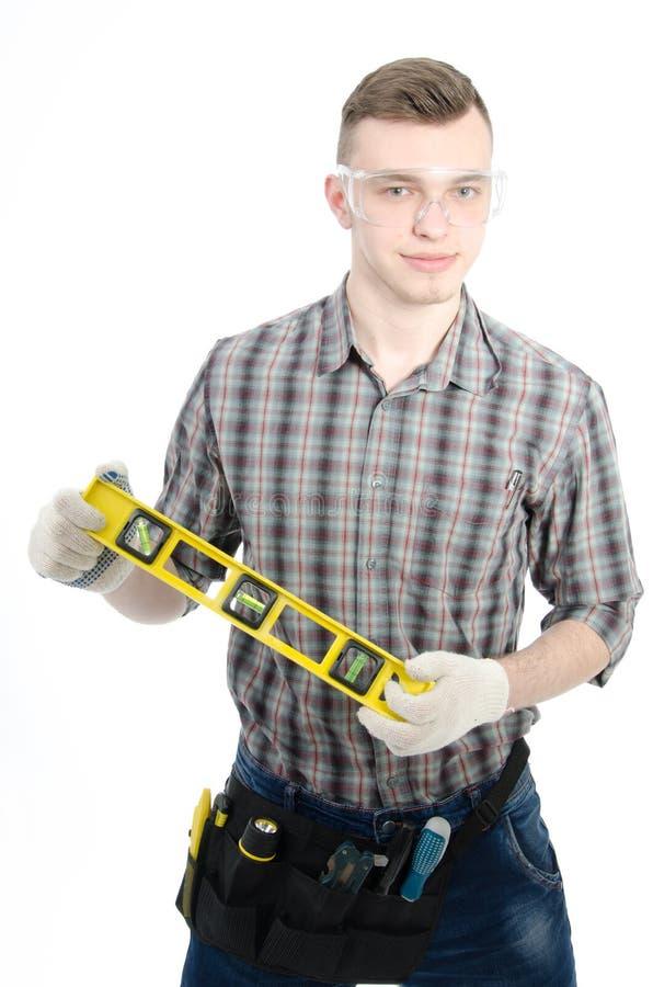 Νέος όμορφος handyman στοκ φωτογραφία