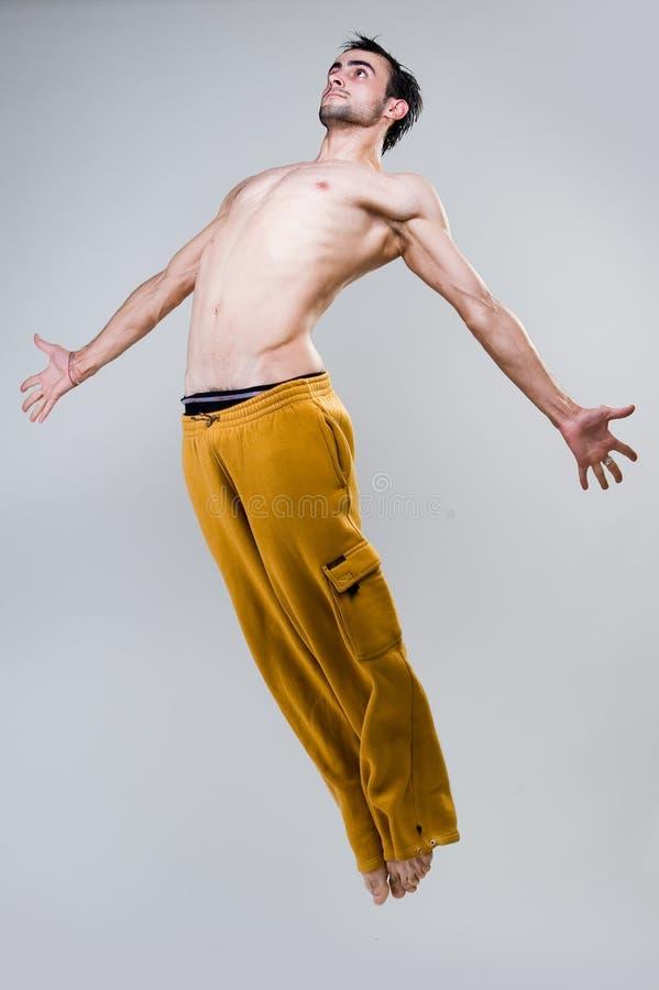Νέο άλμα χορευτών στοκ φωτογραφία με δικαίωμα ελεύθερης χρήσης