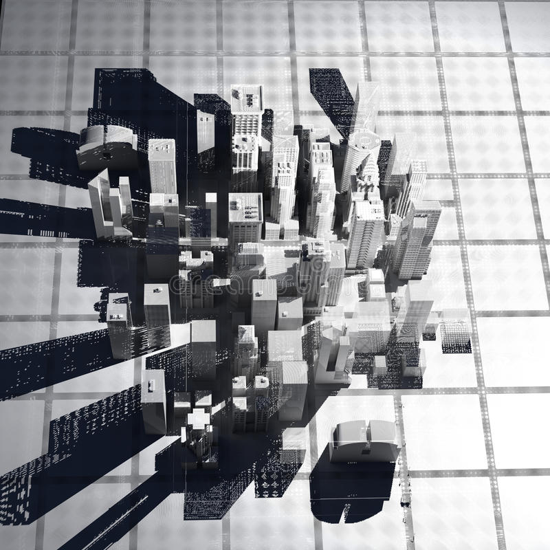 νέο άσπρο καλώδιο Υόρκη πλέ απεικόνιση αποθεμάτων