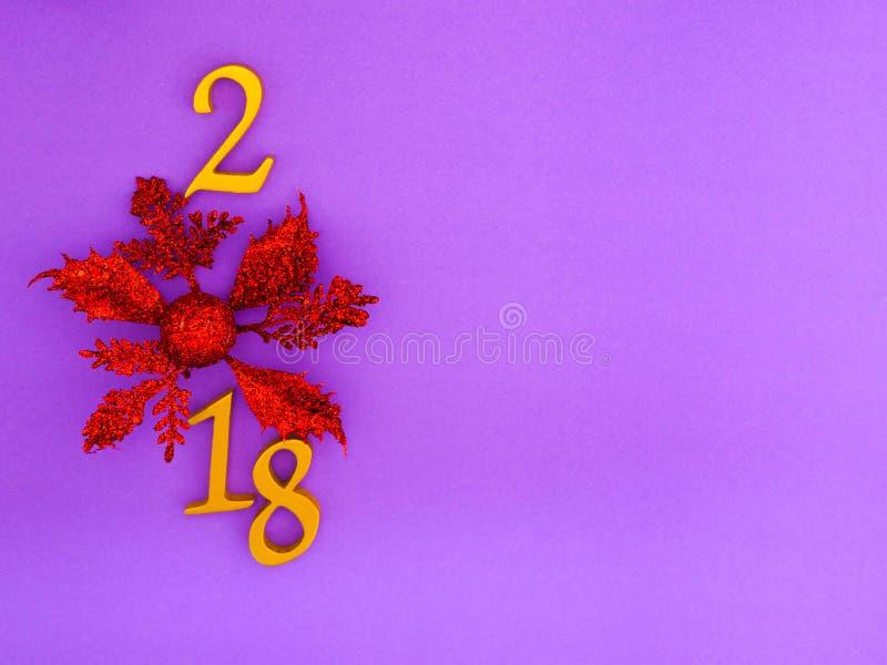 Νέο έμβλημα έτους 2018 στοκ εικόνα με δικαίωμα ελεύθερης χρήσης