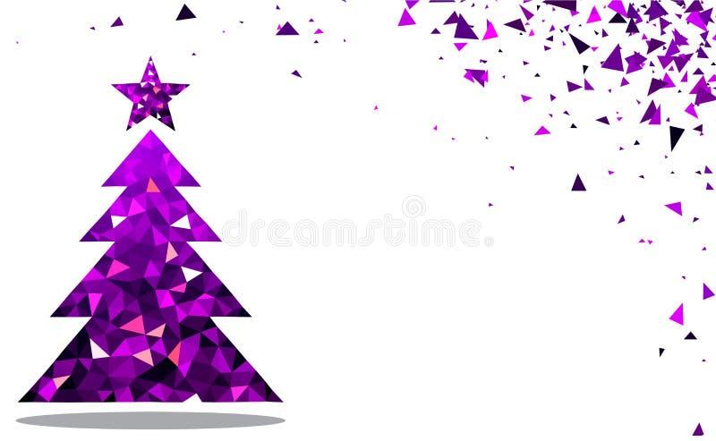 νέο έτος δέντρων Χριστουγέ&nu ελεύθερη απεικόνιση δικαιώματος