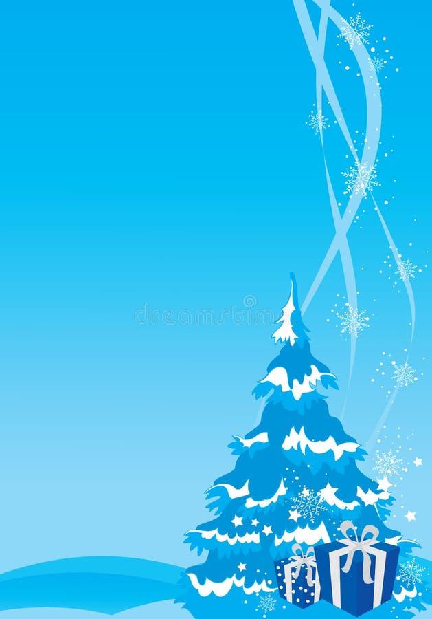 νέο έτος απεικόνισης Χριστουγέννων ανασκόπησης απεικόνιση αποθεμάτων
