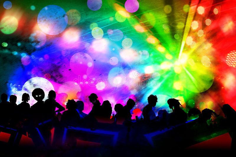 νέο έτος γεγονότος disco λεσχών στοκ εικόνα με δικαίωμα ελεύθερης χρήσης