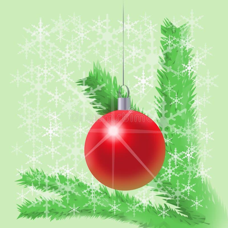 νέο έτος δέντρων διακοσμήσ&e διανυσματική απεικόνιση